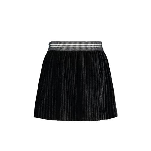 FLO RIB VELOURS SKIRT F908-7742 | black