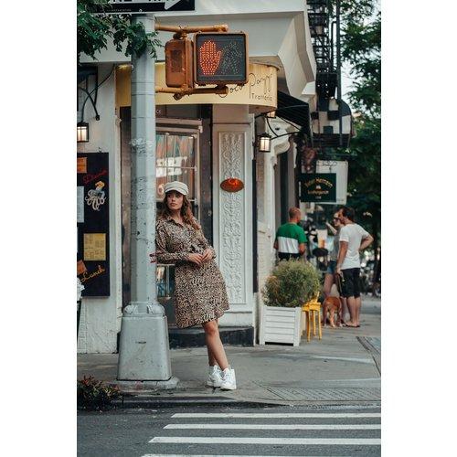 Colourful Rebel 7112 – DENNA LEOPARD SHIRT DRESS