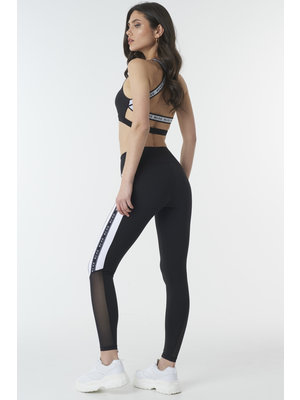 NA-KD 1018-002349 MESH PANEL LEGGINGS // antracite