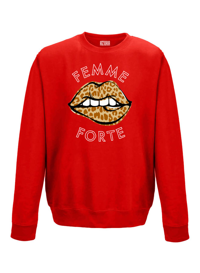 SWEATER FEMME FORTE   red