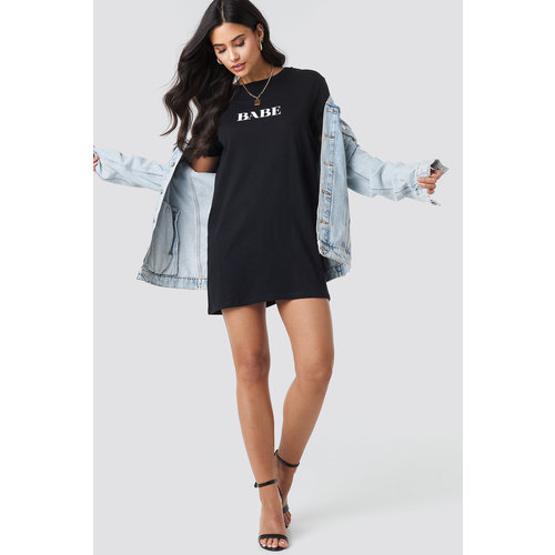 NA-KD BABE T-SHIRT DRESS 1100-001718 | black