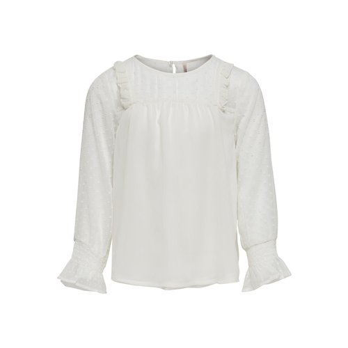 KIDS ONLY KONALMA L/S TOP WVN 15190850 | cloud dancer