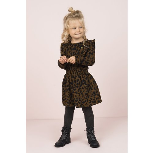 FLO ANIMAL RUFFLE DRESS F909-5802