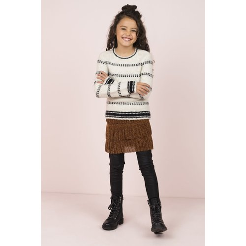 FLO KNITTED B-W SWEATER F909-5342
