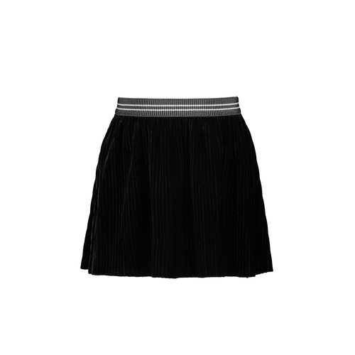 FLO RIB VELOURS SKIRT F909-5742 | black