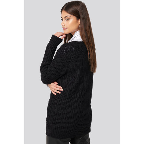 NA-KD Button up Chunky Cardigan 1018-003917 |  DEEP BLACK