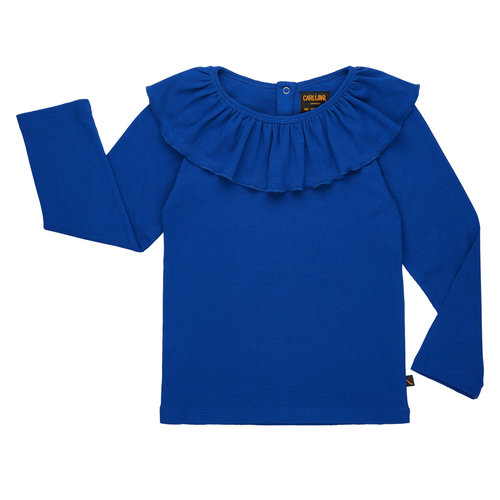 CarlijnQ Longsleeve Rib Ruffled collar PC19