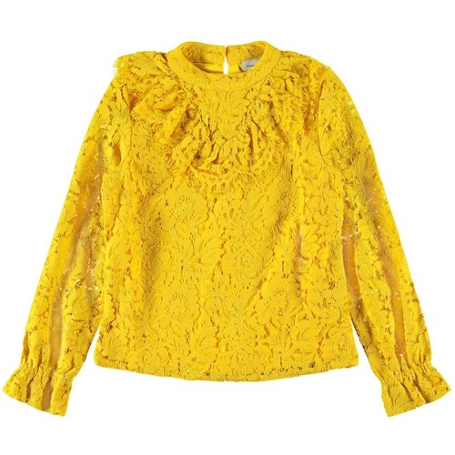 NKFRAINY LS BLOUSE 13171704 | old gold