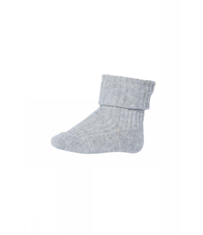 Socks rib 533 | 491 grey mel