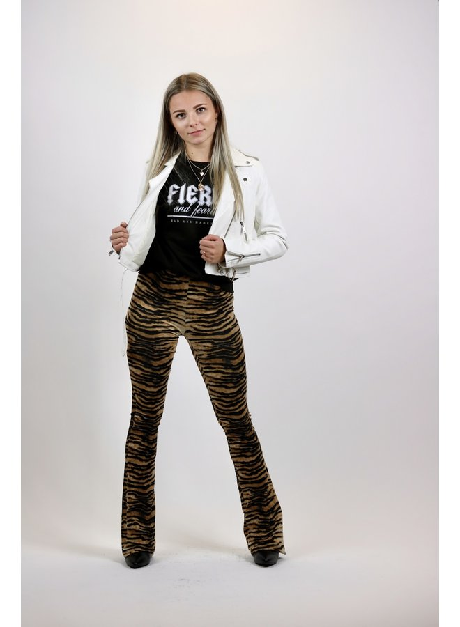 FLARED PANTS SOFT | zebra