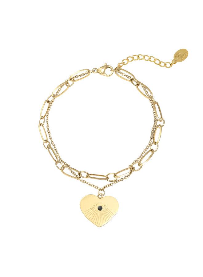 Bracelet Peekaboo // gold