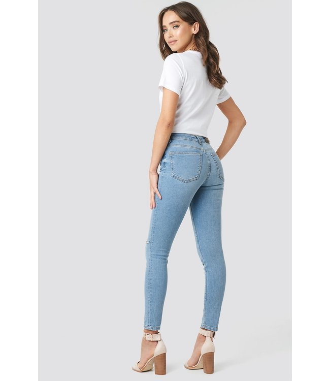1018-002853 LOW RISE SKINNY JEANS DISTRESSED