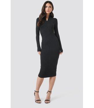 NA-KD RING PULLER BODYCON DRESS 1018-002412 | black