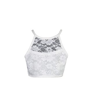 D-XEL CROP LACE TOP 4511693 | offwhite