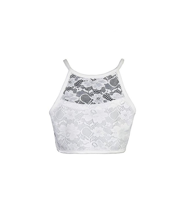 CROP LACE TOP 4511693 | offwhite