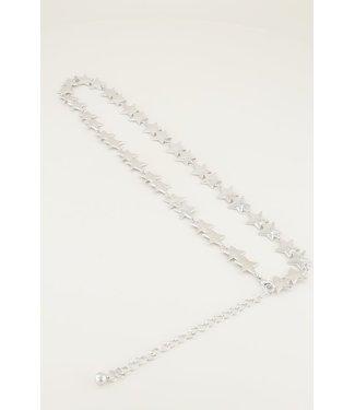 My Jewellery Ketting riem met sterren MJ02705 // zilver