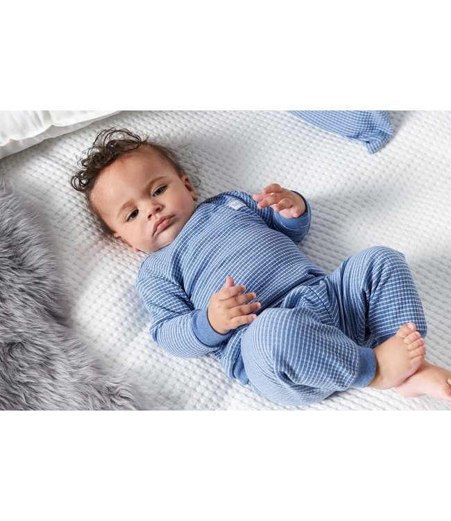 Wafel pyjama 305.533 | blue melange