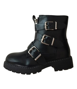 BIKER BOOTS TRIPLE GESP JR // black