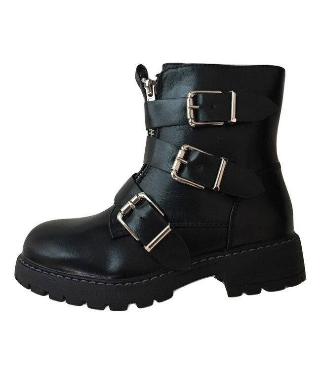 BIKER BOOTS TRIPLE GESP JR // black