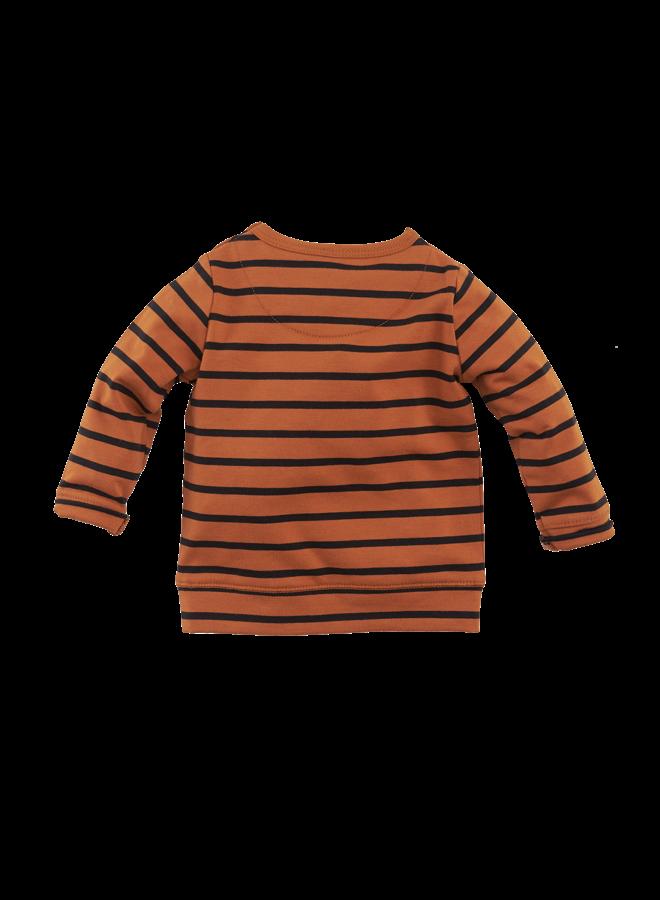 Tunis   Cognac/Black/Stripes