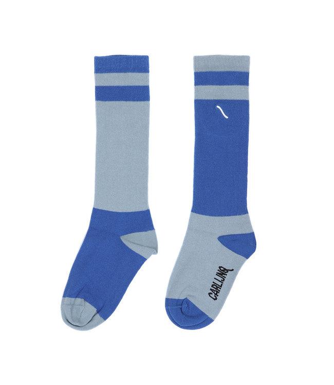 Knee socks | light blue/blue