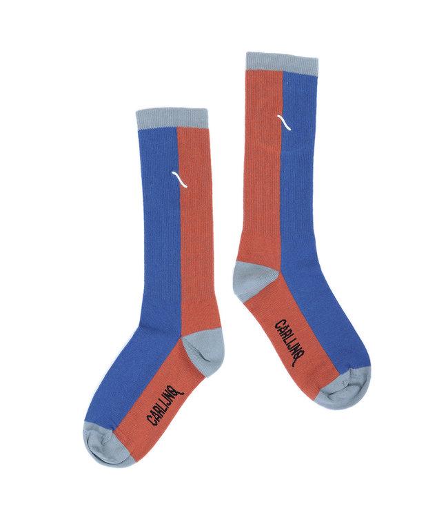 Knee socks | brown/blue