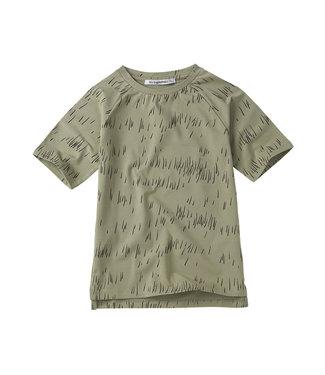 MINGO T-shirt | Grass Print Oak