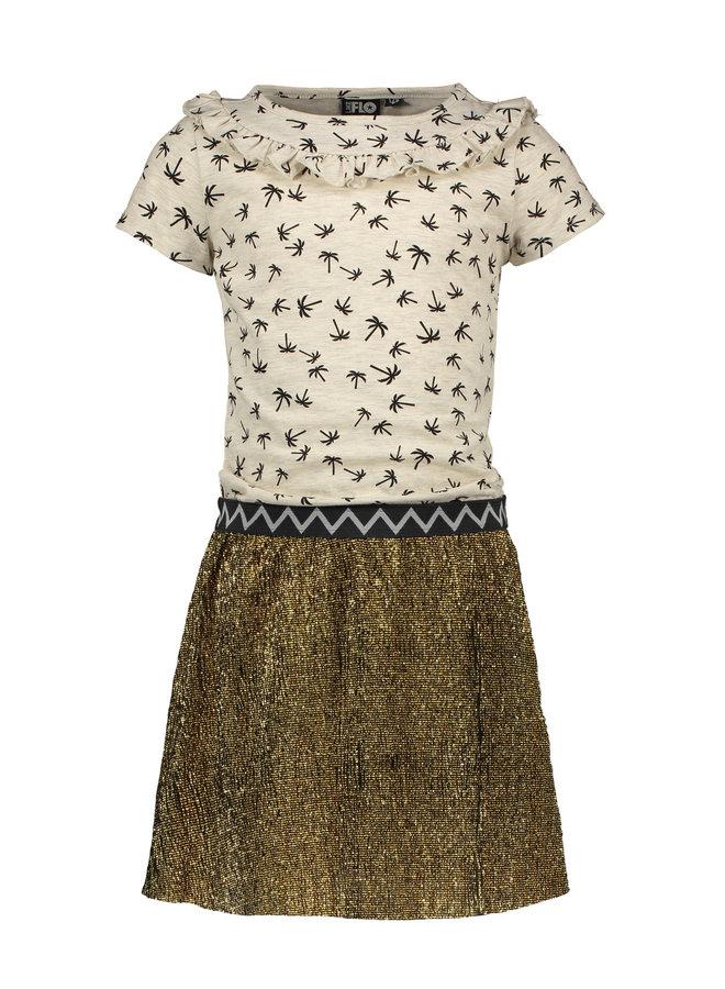 PALM DRESS F002-5819 | gold