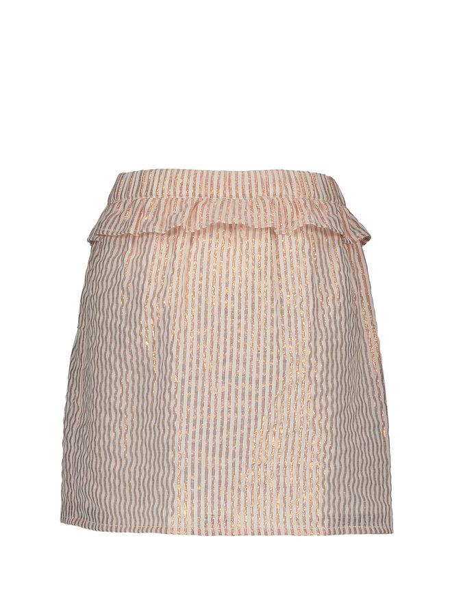 LUREX STRIPE SKIRT F002-5735 | rose
