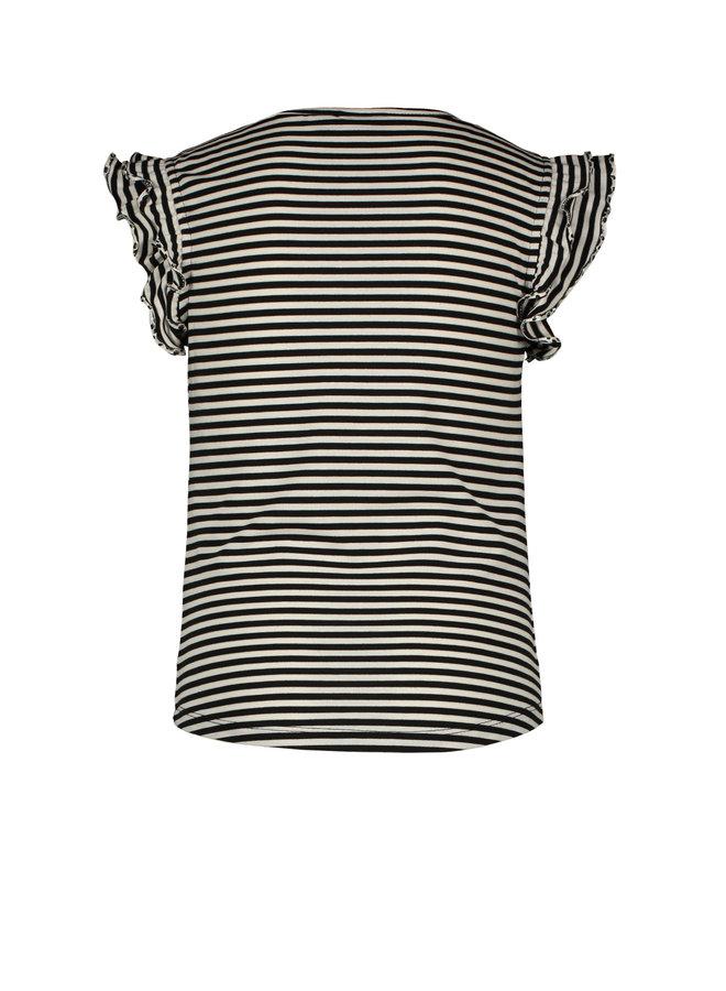 RUFFLE TEE F002-5400 | stripe