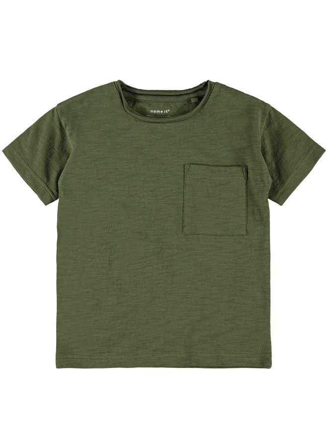 NKMSOMON SS BOXY TOP 13180292 // ivy green