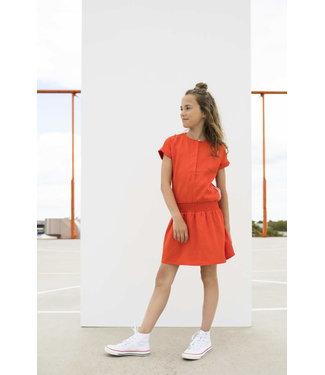 STREET CALLED MADISON TENCELL DRESS SUMMER SWEET S002-5803 | orange