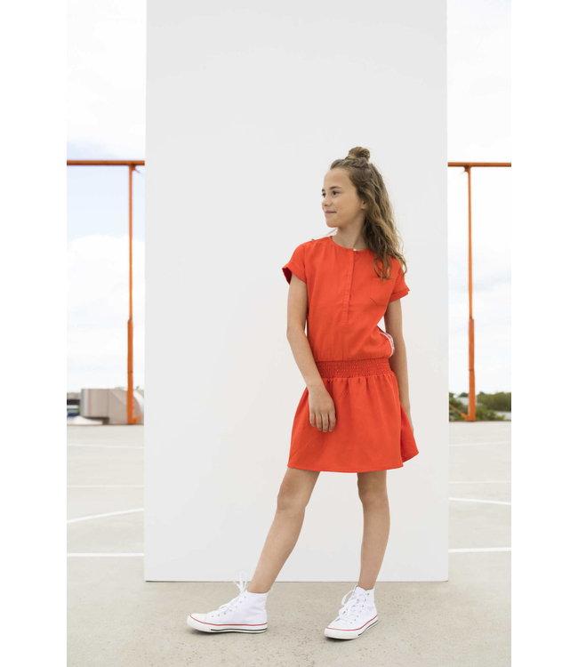 TENCELL DRESS SUMMER SWEET S002-5803 | orange
