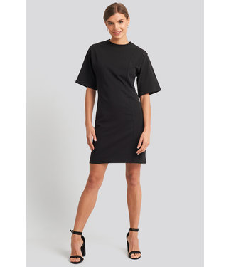 NA-KD Fitted T-shirt Dress 1100-002142 | Black