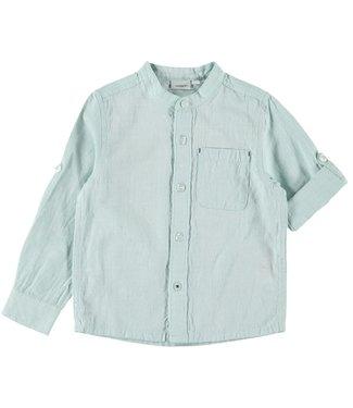 name it NMMFISH LS SHIRT BOX 13175701 // sterling blue