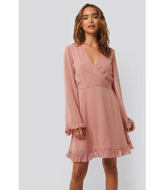 NA-KD Dobby Dress 1014-000781 | dusty pink