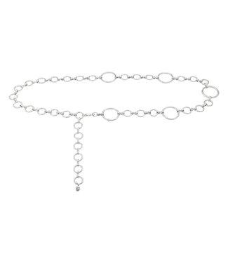 Chain Belt Hoops | silver