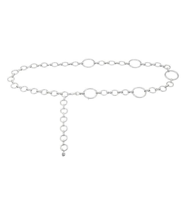 Chain Belt Hoops   silver
