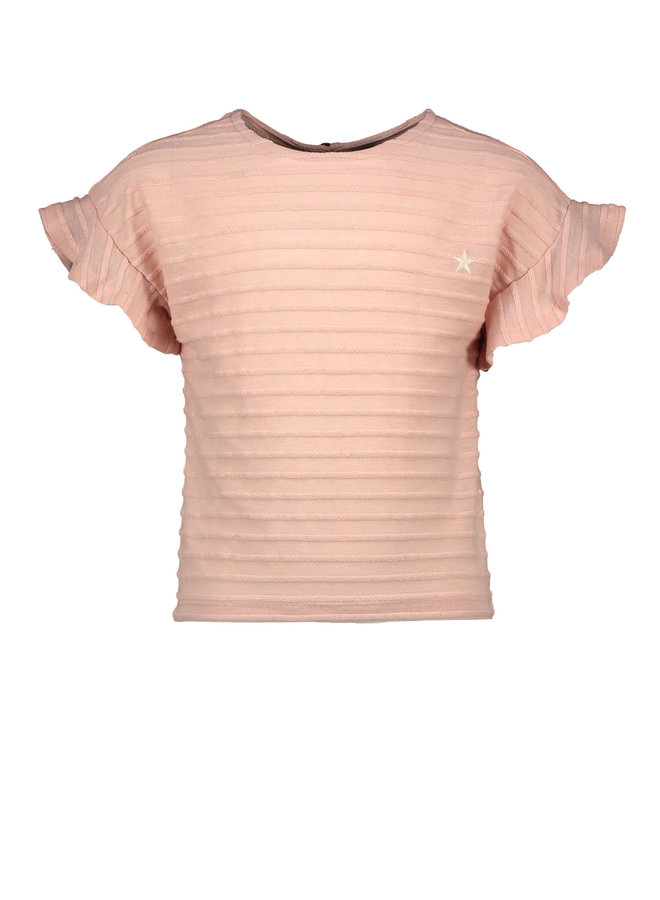 RELIEF RUFFLE TOP F003-5450 | light pink