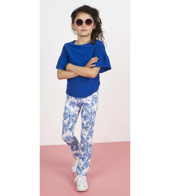 FLARED PANT F003-5671   blue palm