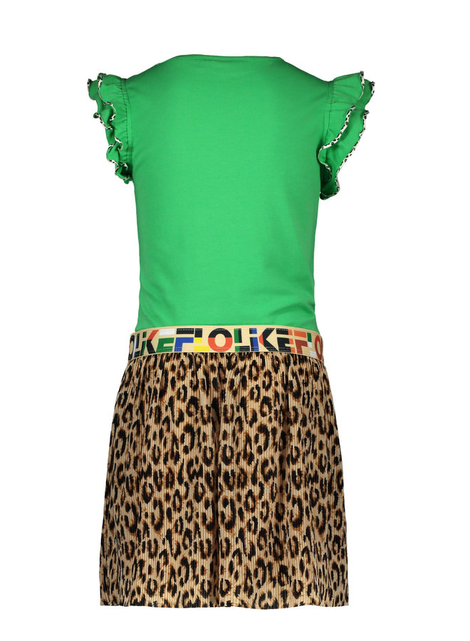 DRESS AO  F003-5816 | green/panter