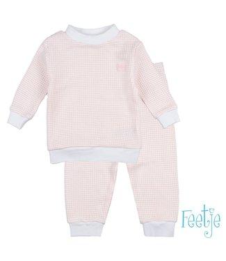 Feetje Wafel pyjama 305.532 | zalm