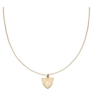 Necklace Famous Leopard | goud