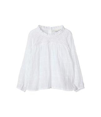 name it NMFFALMINA Blouse ls 13175283 | bright  white