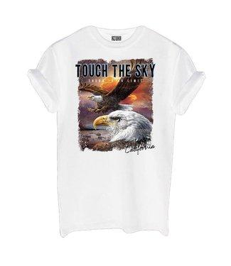 AZUKA T-shirt Touch The Sky - white
