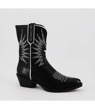 Cowboy Boots | black/white