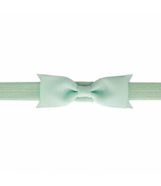 Your Little Miss Baby haarbandje met strik pastel green