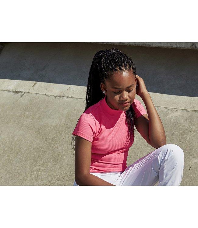 T-shirt SVANA RIB 4804950 | pink