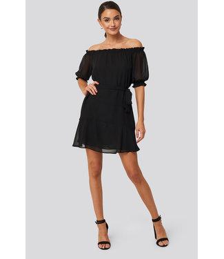 NA-KD Off shoulder dress 1018-004143 | black