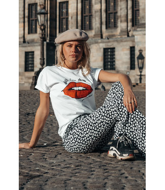 Colourful Rebel 8416 - With Love Boxy Tee | white